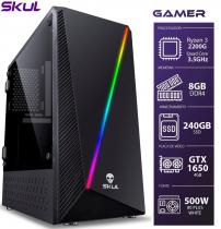 COMPUTADOR GAMER 3000 - RYZEN 3 2200G 3.5GHZ MEM. 8GB DDR4 SSD 240GB GTX 1650 4GB FONTE 500W 80 PLUS WHITE - 1