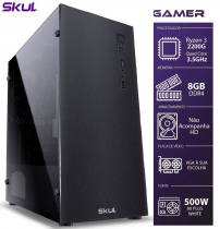 COMPUTADOR GAMER 3000 - RYZEN 3 2200G 3.5GHZ MEM. 8GB DDR4 SEM HD/SSD FONTE 500W 80 PLUS WHITE - 1