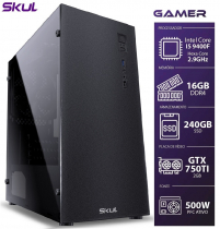COMPUTADOR GAMER 5000 - I5 9400F 2.9GHZ 9ª GER. MEM. 16GB DDR4 SSD 240GB GTX750TI 2GB FONTE 500W - 1
