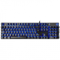 TECLADO GAMER USB MECANICO  SWITCH BLUE GK400F LED AZUL CHUMBO - 1