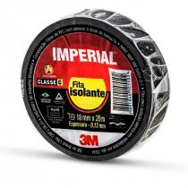 FITA ISOLANTE IMPERIAL 18MM 20 METROS PRETA - 1