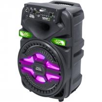 CAIXA AMPLIFICADA BLUETOOTH/SD/USB ILUMINAÇÃO DE LED 8'' 250W WAVE8 - 1