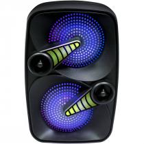 CAIXA AMPLIFICADA 6,5'' 60W SMASH  BLUETOOTH/SD/USB ILUMINAÇÃO DE LED COM MICROFONE - 1
