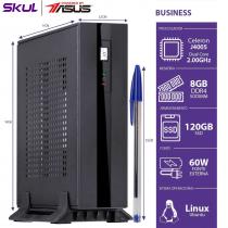 MINI COMPUTADOR BUSINESS B100 POWERED BY ASUS - CELERON DUAL CORE J4005 2.00GHZ 8GB DDR4 SSD 120GB 1X SERIAL FONTE 60W - 1
