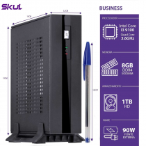 MINI COMPUTADOR BUSINESS B300 - I3 9100 3.6GHZ 8GB DDR4 SODIMM HD 1TB HDMI/DP FONTE 90W LINUX - 1