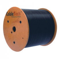 CABO COAXIAL RGC-59 STD-40% PRETO 305 METROS