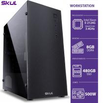 COMPUTADOR BUSINESS B500 - WORKSTATION XEON E-2124G 3.4GHZ 8GB DDR4 SSD 480GB FONTE 500W - 1