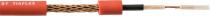 CABO DE GUITARRA NOISELESS AFT 0,30MM2 (22 AWG) 100 METROS TRANÇADO + SEMI-CONDUTOR  VERMELHO