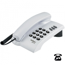 TELEFONE PLENO CINZA ÁRTICO COM CHAVE FUNÇÕES FLASH REDIAL MUTE OPÇÃO DE CHAVE DE BLOQUEIO - 1