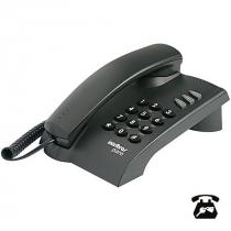 TELEFONE PLENO PRETO COM CHAVE FUNÇÕES FLASH REDIAL MUTE OPÇÃO DE CHAVE E BLOQUEIO - 1