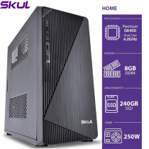 COMPUTADOR HOME H200 - PENTIUM DUAL CORE G6400 4.0GHZ 8GB DDR4 SSD 240GB HDMI/VGA FONTE 250W - 1