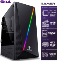COMPUTADOR GAMER 3000 - I3 10100F 3.6GHZ 10ª GER. MEM. 16GB DDR4 SSD 480GB GTX 1650 4GB FONTE 500W PFC ATIVO - 1