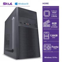 COMPUTADOR HOME H100 - CELERON DUAL CORE J4005 2.00GHZ 4GB DDR4 SODIMM SSD 120GB HDMI/VGA FONTE 200W WINDOWS 10 PRO - 1